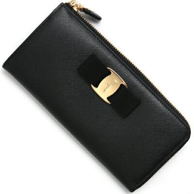 フェラガモ 長財布 財布 レディース ヴァラ VARA リボン ブラック 22C124 0588279 SALVATORE FERRAGAMO