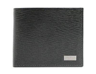フェラガモ 二つ折り財布 財布 メンズ ブラック 667070 SALVATORE FERRAGAMO