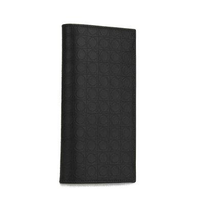 フェラガモ 長財布 財布 メンズ 型押しガンチーニ ブラック 66-9413 SALVATORE FERRAGAMO