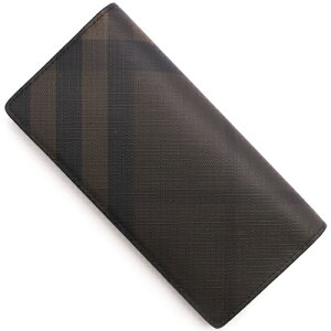 バーバリー BURBERRY 長財布 スモークトチェック 【SMOKE TO CHECK】 チョコレートブラウン&ブラック 3996180 2070B メンズ