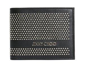 ジミーチュウ JIMMY CHOO ミニスタッズ レザー 二つ折財布【札入れ】 ブラック MARK LMM 【メンズ】 【レディース】