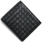 ボッテガヴェネタ BOTTEGA VENETA 二つ折財布【札入れ】 イントレチャート 【INTRECCIATO】 ブラック 138625 V4651 1000 メンズ
