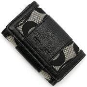 コーチ COACH キーケース パーカー シグネチャー ブラックホワイト&ブラック F51768 SBWBK レディース
