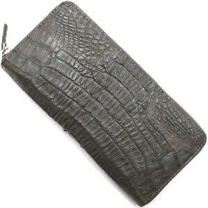 本革 Leather 長財布 カイマンワニ 【CAIMAN GENUINE】 ダークグレー CJN0512B DGYTMT メンズ レディース
