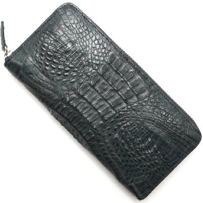 本革 Leather 長財布 カイマンワニ 【CAIMAN GENUINE】 ネイビー CJN0512B NVTMT メンズ レディース