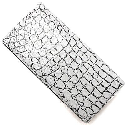 本革 Leather 二つ折財布 クロコダイル 【CROCODILE】 ヴァニラホワイト OKUC0738 VWH メンズ レディース