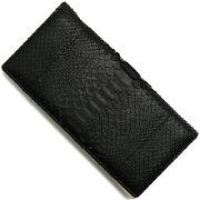 本革 Leather 長財布 ダイヤモンドパイソン 【DIAMOND PYTHON】 ブラック SNJN0118 BBK メンズ レディース
