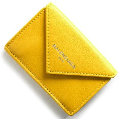 バレンシアガ BALENCIAGA 三つ折財布 ペーパー ミニ PAPER MINI ジューンイエロー 391446 DLQ0N 7112 2018年春夏新作 レディース