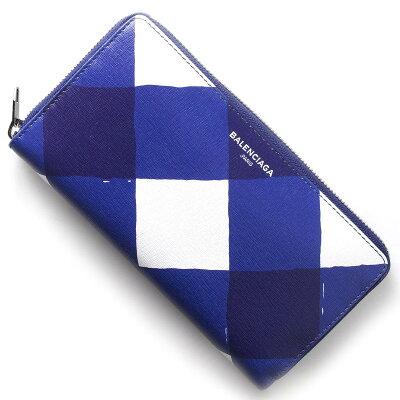 バレンシアガ BALENCIAGA 長財布 エッセンシャル コンチネンタル ESSENTIAL CONTINENTAL ホワイト&ブルー 392124 DM11N 9091 レディース