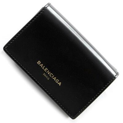 バレンシアガ 三つ折り財布 財布 レディース エッセンシャル ブラック 490621 DRY0N 1000 2018年春夏新作 BALENCIAGA