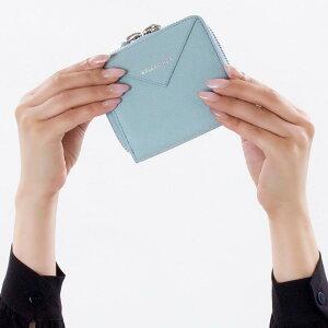 バレンシアガ 二つ折り財布 財布 レディース ペーパー ビルフォールド グリーブルー 371662 DLQ0N 4005 BALENCIAGA
