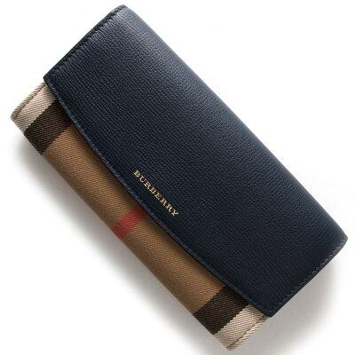 バーバリー BURBERRY 長財布 ハウスチェック HOUSE CHACK インクブルー 3992894 46600 レディース