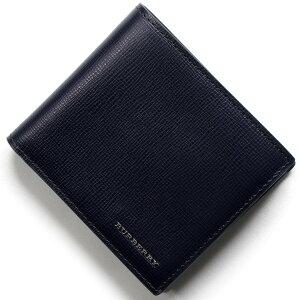 バーバリー BURBERRY 二つ折財布 ロンドン 【LONDON】 ダークネイビー 3997620 41100 メンズ