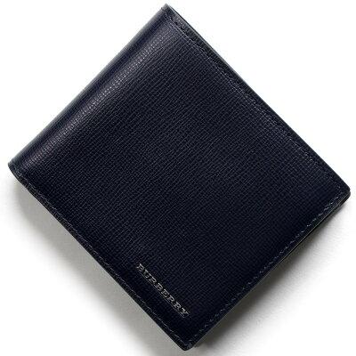 バーバリー BURBERRY 二つ折り財布 ロンドン LONDON ダークネイビー 3997620 41100 メンズ