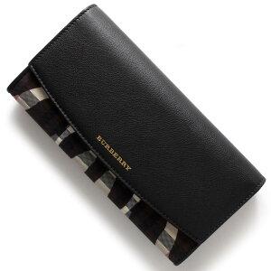 バーバリー BURBERRY 長財布 ホースフェリーチェック アニマル プリント HORSEFERRY CHECK PRINTED ANIMAL ストーンベージュ&ブラック 4003897 0010B レディース