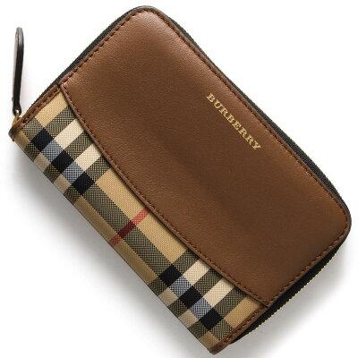 バーバリー BURBERRY 二つ折り財布/長財布 ハウスチェック HOUSE CHACK タンブラウン 4020264 21600 レディース