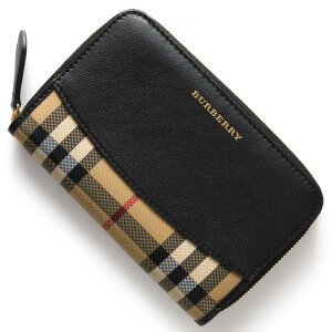 バーバリー BURBERRY 二つ折財布/長財布 ハウスチェック HOUSE CHACK ブラック 4020265 00100 レディース