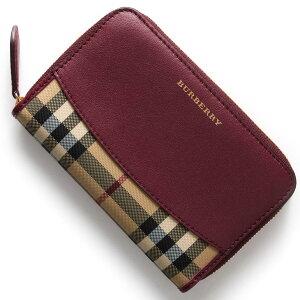 バーバリー BURBERRY 二つ折財布/長財布 ハウスチェック HOUSE CHACK ダークプラムパープル 4020267 50140 レディース