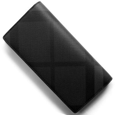 バーバリー BURBERRY 長財布 ロンドンチェック LONDON CHECK チャコールグレー&ブラック 4056415 02600 2018年春夏新作 メンズ