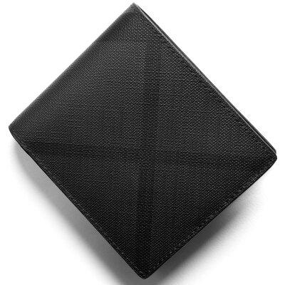 バーバリー BURBERRY 二つ折り財布 ロンドンチェック LONDON CHECK チャコールグレー&ブラック 4056421 02600 2018年春夏新作 メンズ