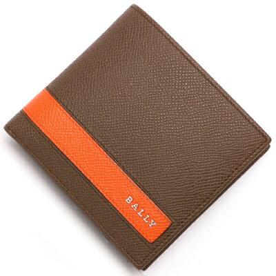 バリー BALLY 二つ折財布 LYITEL タバコブラウン&オレンジ LYITEL 141 メンズ