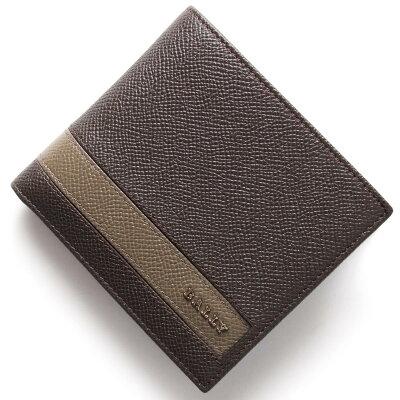 バリー BALLY 二つ折財布 LYITEL バークアッシュブラウン LYITEL 75 メンズ