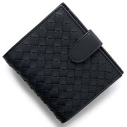ボッテガヴェネタ (ボッテガ・ヴェネタ) 財布 BOTTEGA VENETA 二つ折財布 イントレチャート INTRECCIATO トルマリンネイビー 121059 V001N 4014 メンズ