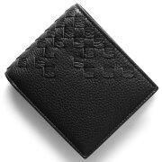 ボッテガヴェネタ (ボッテガ・ヴェネタ) 財布 BOTTEGA VENETA 二つ折財布 イントレチャート ブラック 193642 VCEP1 1000 メンズ