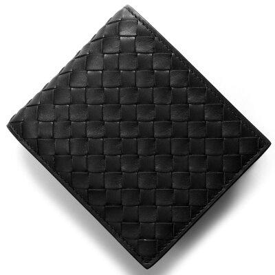 ボッテガヴェネタ (ボッテガ・ヴェネタ) 財布 BOTTEGA VENETA 二つ折り財布 イントレチャート/INTRECCIATO ブラック 415892 V4651 1000 メンズ