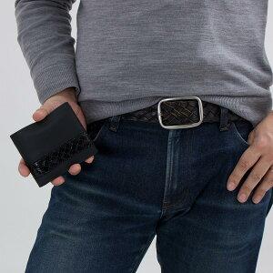 ボッテガヴェネタ 二つ折り財布 財布 メンズ イントレチャート INTRECCIATO ブラック 193642 V1EEI 1000 2018年春夏新作 BOTTEGA VENETA