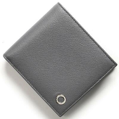 ブルガリ 二つ折り財布 財布 メンズ ブルガリブルガリ マン プルトストーングレー 285217 2018年春夏新作 BVLGARI