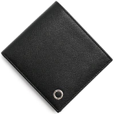 ブルガリ BVLGARI 二つ折り財布 ブルガリブルガリ マン BB MAN ブラック 30396 メンズ