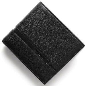 ブルガリ BVLGARI 二つ折財布 オクト OCTO ブラック 36964 メンズ