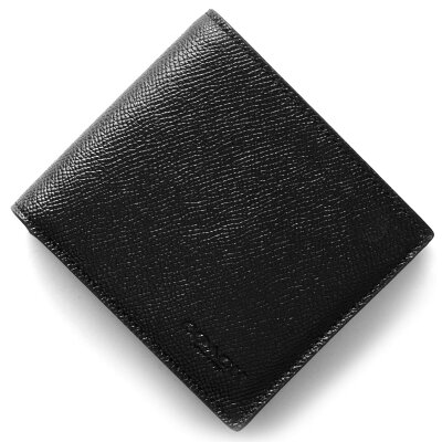 コーチ COACH 二つ折財布 クロスグレイン ブラック F59111 BLK メンズ