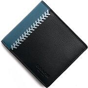 コーチ COACH 二つ折財布 ベースボール ミッドナイトネイビー F75225 BHP メンズ