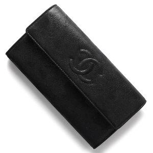 シャネル CHANEL 長財布 キャビアスキン ココマーク ブラック A50070 MR BK レディース