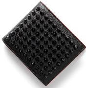 クリスチャンルブタン CHRISTIAN LOUBOUTIN 二つ折財布【札入れ】 パネトーネ 【PANETTONE】 ブラック&レッド 3165066 CM53 メンズ