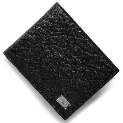 ドルチェ&ガッバーナ DOLCE&GABBANA 二つ折り財布 スタンパ ドーフィン STAMPA DAUPHINE ブラック BP0457 A1001 80999 メンズ