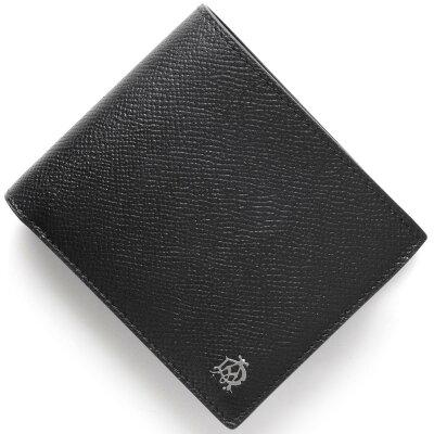 ダンヒル DUNHILL 二つ折財布 カドガン 【CADOGAN】 ブラック L2AC32 A メンズ