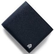ダンヒル DUNHILL 二つ折財布 カドガン CADOGA ネイビー&ブルー L2AC32 N メンズ