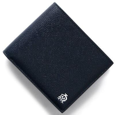 ダンヒル DUNHILL 二つ折り財布 カドガン CADOGA ネイビー&ブルー L2AC32 N メンズ
