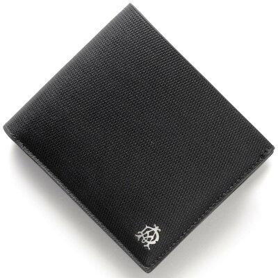 ダンヒル DUNHILL 二つ折財布 エンジンターン 【ENGIN TURN】 ブラック L2AE32 A メンズ
