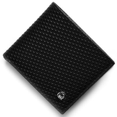 ダンヒル DUNHILL 二つ折り財布 マイクロ ディーエイト D-EIGHT ブラック L2V332A A メンズ