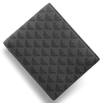 エンポリオアルマーニ EMPORIO ARMANI 二つ折り財布 PORTAMONETE ALL OVER イーグルマーク ブラック&グレー Y4R065 YG91J 81072 メンズ