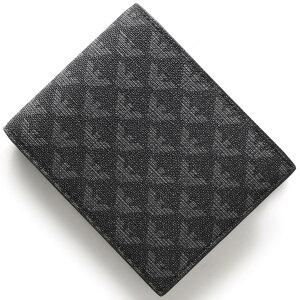 エンポリオアルマーニ EMPORIO ARMANI 二つ折財布 イーグルマーク ボードグレー&ブラック Y4R065 YO23J 86526 メンズ