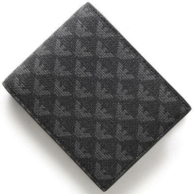 エンポリオアルマーニ EMPORIO ARMANI 二つ折り財布 イーグルマーク ボードグレー&ブラック Y4R065 YO23J 86526 メンズ