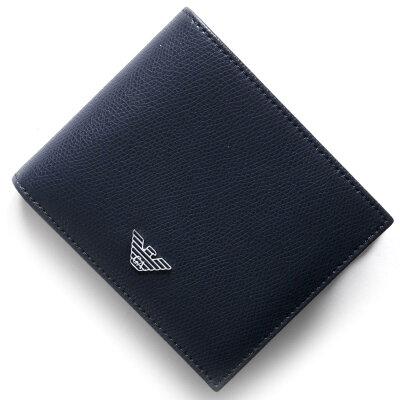 エンポリオアルマーニ EMPORIO ARMANI 二つ折財布 PORTAFOGLIO LOGATO バーニングブルー YEM122 YAQ2E 81960 メンズ