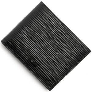 エンポリオアルマーニ EMPORIO ARMANI 二つ折財布 PORTAFOGLIO VITELLO STAMPATO W ブラック YEM122 YAS9J 80001 メンズ