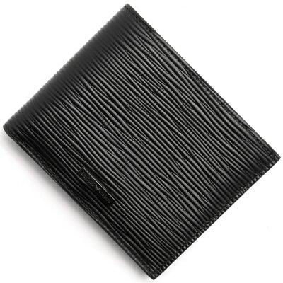 エンポリオアルマーニ EMPORIO ARMANI 二つ折り財布 PORTAFOGLIO VITELLO STAMPATO W ブラック YEM122 YAS9J 80001 メンズ