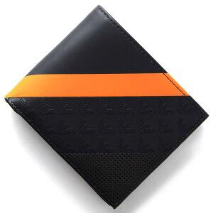 エンポリオアルマーニ EMPORIO ARMANI 二つ折財布 PORTAFOGLIO LOGATO ミッドナイトブルー&オレンジ YEM122 YKS2V 80132 メンズ